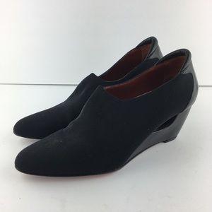 Donald J Pliner Black Slip On Wedge Shoes Sz 10